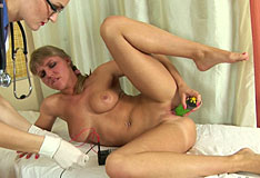 Doctor dildo insertion 6